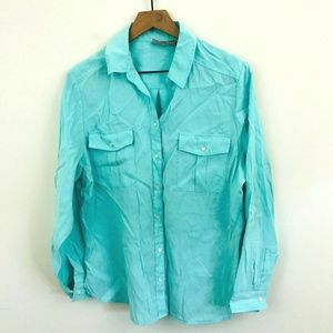 Chico's Turquoise Button Up Shirt